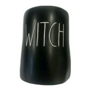 "Rae Dunn Black White""WITCH"" Candle SPECIAL EDITION"
